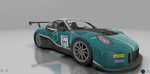 Porsche 911 GT3 R im 3D Product Viewer