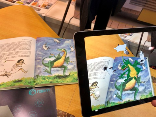 Augmented Reality Inhalt in Buch