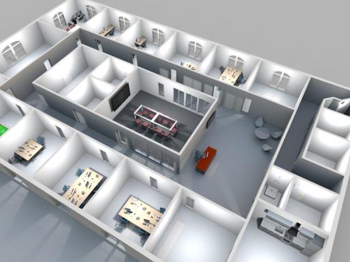 3D Rendering Büro