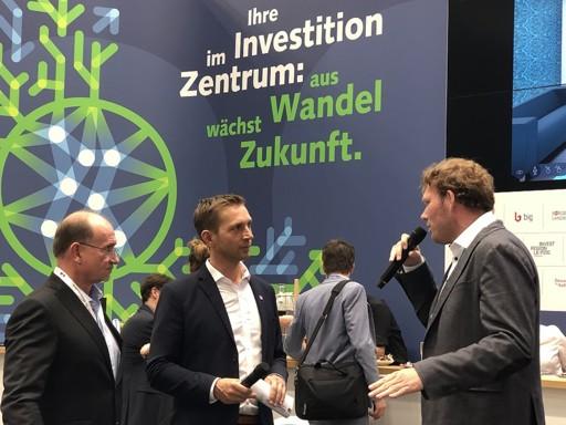 Diskussionsrunde zum Thema Digitalisierung von Immobilien mit Hans Elstner auf der EXPO Real 2019 in München