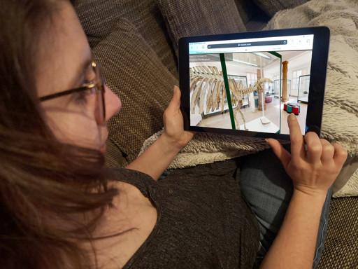 anschauen eines 360 Grad Rundgangs auf iPad