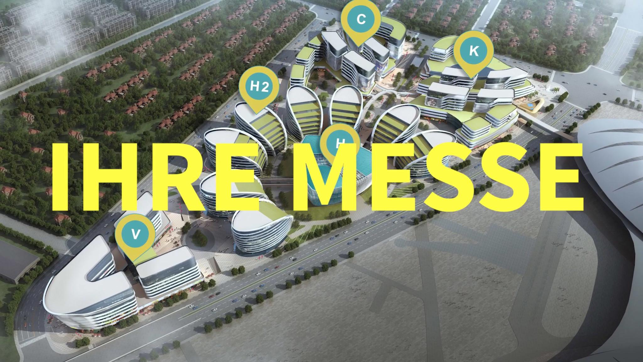 virtual trade fair from above