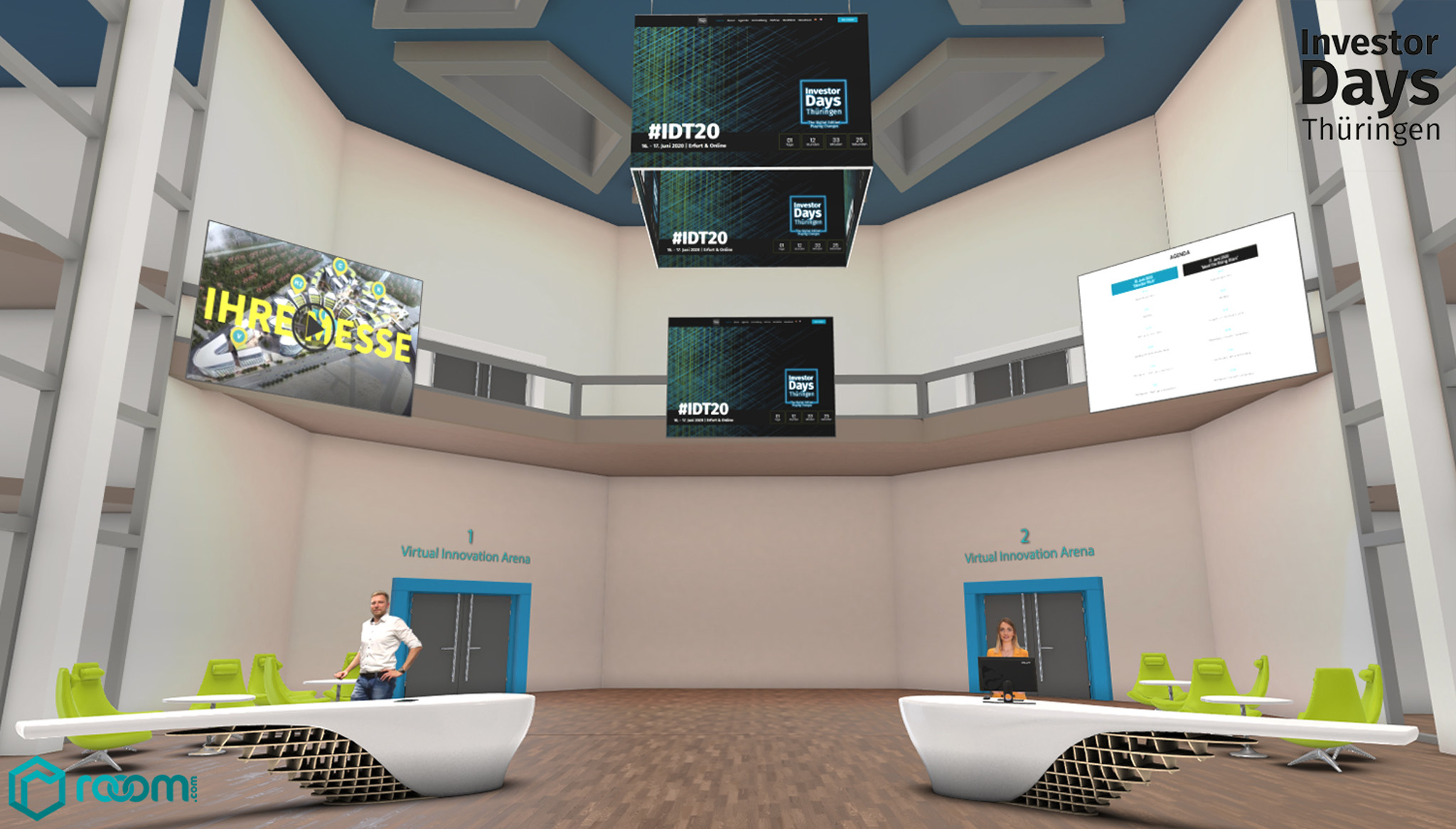 Picture of the virtual fairground of EXPO-X