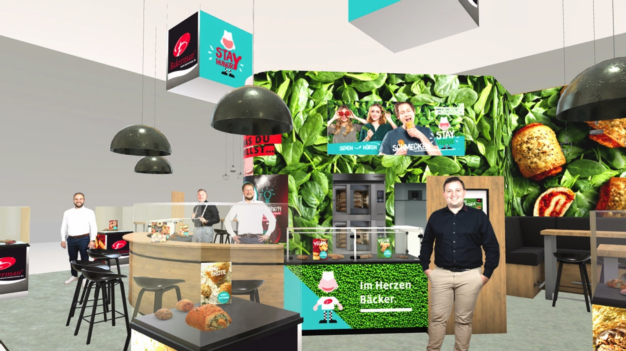 Virtual exhibition stand with product visualizations