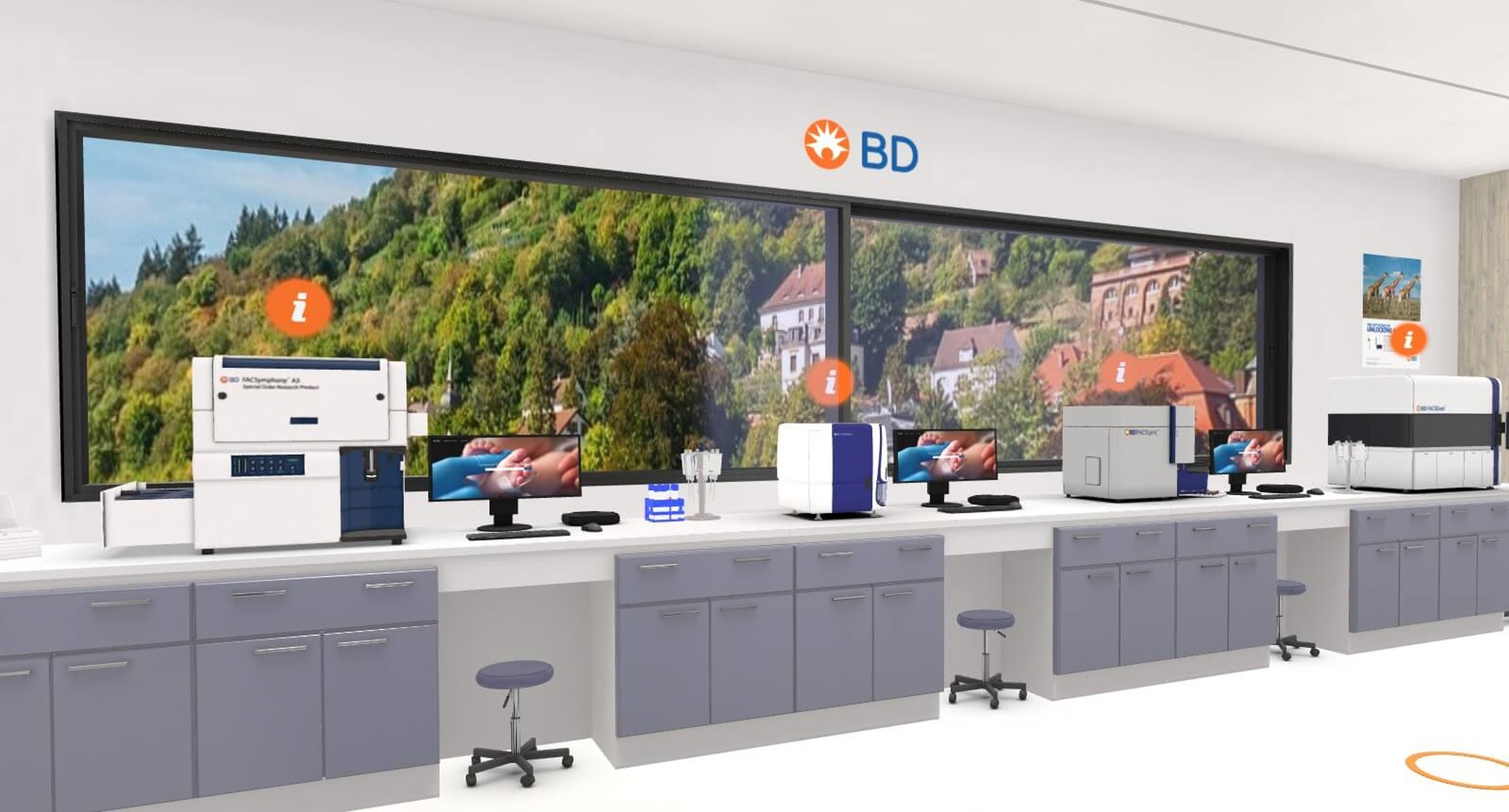 View into the virtual showroom of Becton Dickinson