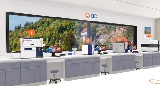 Blick in den virtuellen Showroom von Becton Dickinson