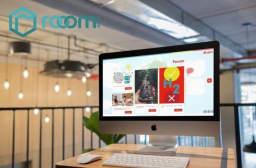 Mockup Forum der E.ON Welt auf Mac in einem Loft